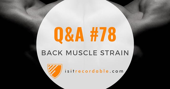 Back Muscle Strain