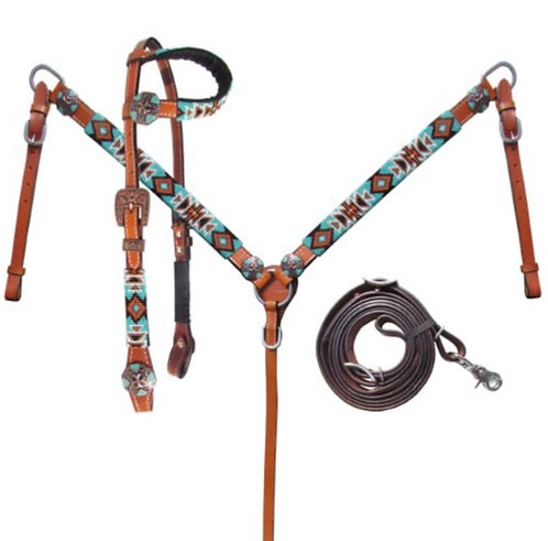 Headstall and breastcollar (14026)