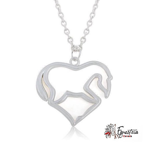 Collier cheval en coeur / Horse in a heart (01012)