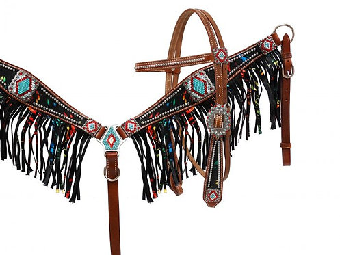 Headstall and breastcollar set (13525)