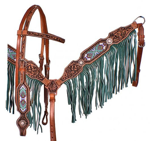 Headstall and breastcollar set (7039)