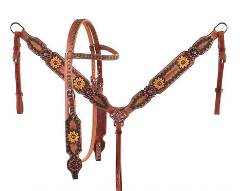 Headstall and breastcollar (7066)