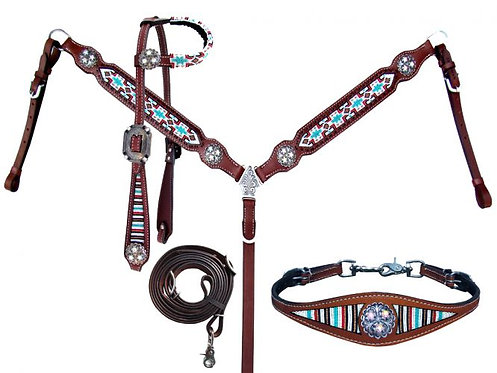 Headstall, breastcollar and wither strap (13849)