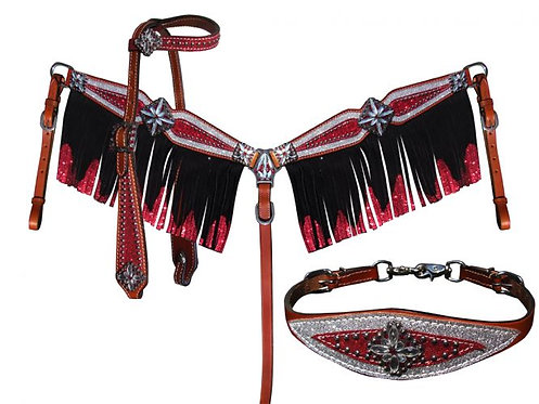 Headstall, breastcollar and wither strap (13950)