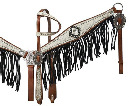 Headstall and breastcollar set (12915)