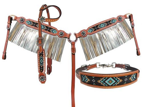 Headstall, breastcollar & wither strap (13956)