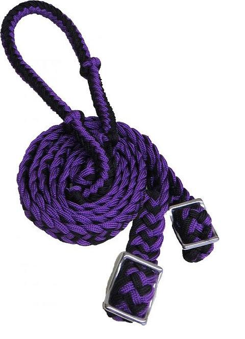 Rênes de baril mauves / Purple barrel reins (27109-2)