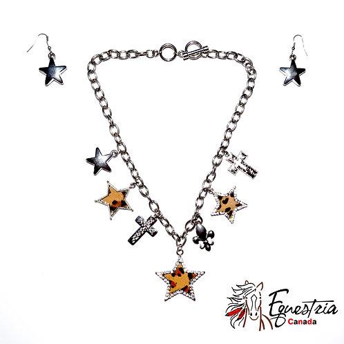 Collier avec boucles d'oreilles / Necklace with earrings (01013)