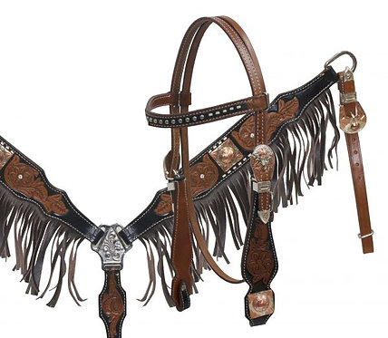 Bride et bricole / Headstall and breastcollar (12848)