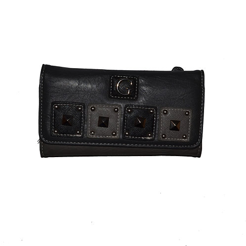 Porte feuille gris et noir / Black and grey wallet (W1013)