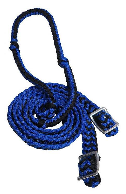 Rênes de barils bleu / Blue barrel reins (27109-2)