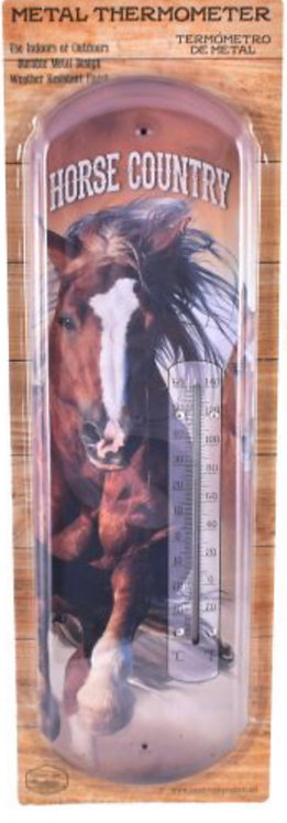 Horse Country metal thermometer