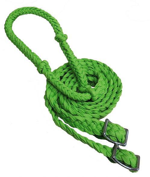 Lime green barrel reins