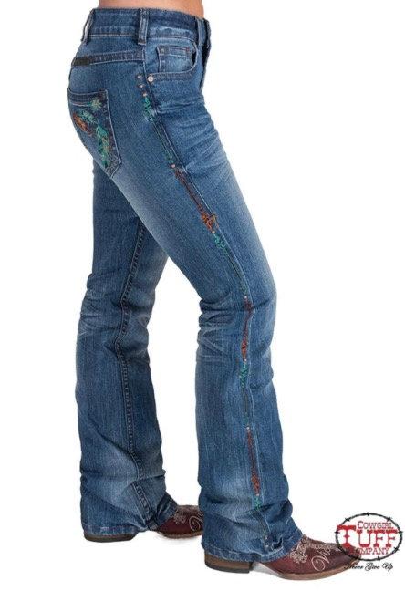 Cowgirl Tuff Jeans (Fancy Fly)