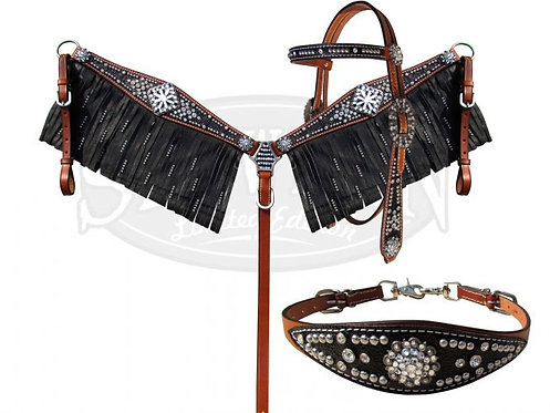 Headstall, breastcollar & wither strap (10385E)