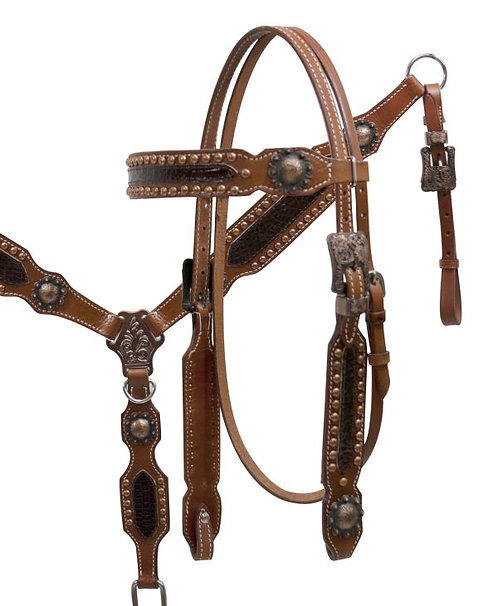 Bride et bricole / Headstall and breastcollar (12849)