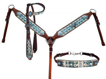 Headstall, breastcollar & wither strap (13776)
