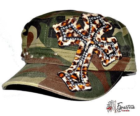 Casquette armée avec croix / Army cap with cross (02016)
