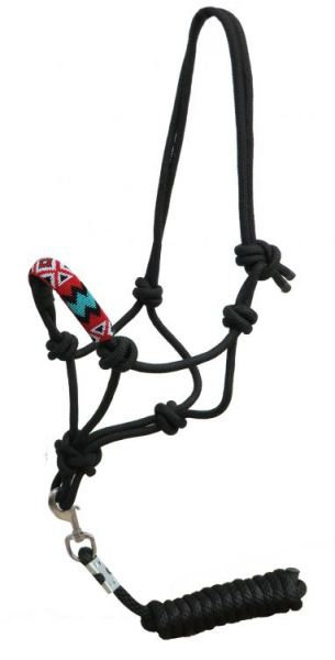 Rope halter with lead (176372)