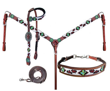 Headstall, breastcollar & wither strap set (14246)