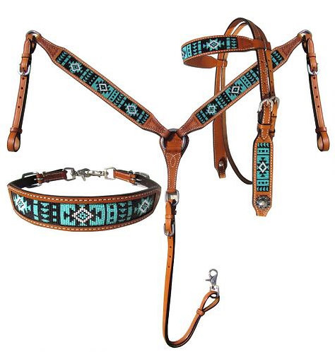 Headstall, breastcollar and wither strap set (14029)