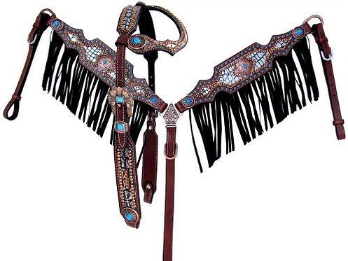 Headstall and breastcollar (13819)