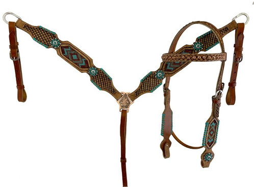 Headstall and breastcollar set (7019)