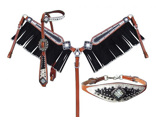Headstall, breastcollar and wither strap (13990)