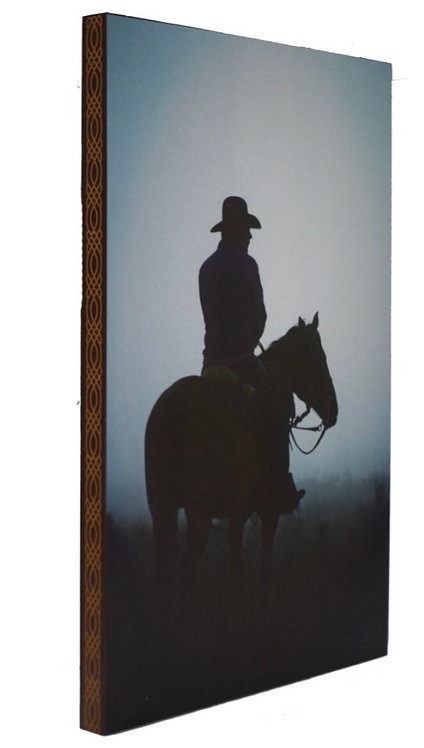 Horse and rider canvas