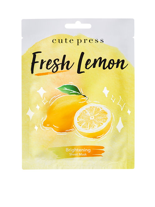Cute Press - 檸檬透亮面膜 - 6片 ( 韓國制 )