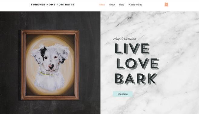 Furever Home Portraits Website