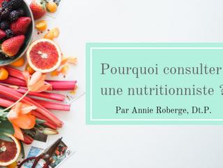 Pourquoi choisir une nutritionniste quand il est question d'alimentation?