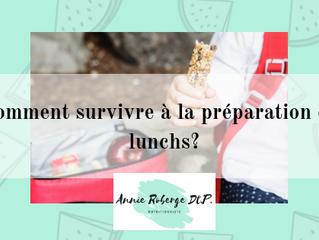 Comment survivre à la préparation des lunchs?