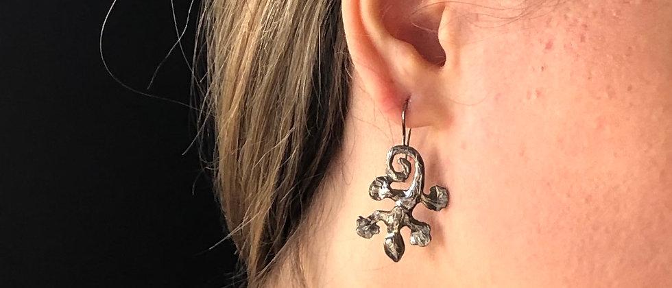 Salamanders Oxidised Silver Earrings