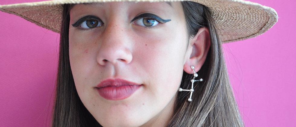 Molecule Silver Earrings