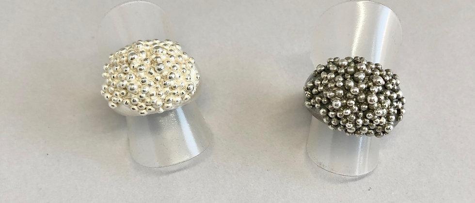 Caviar Silver Ring