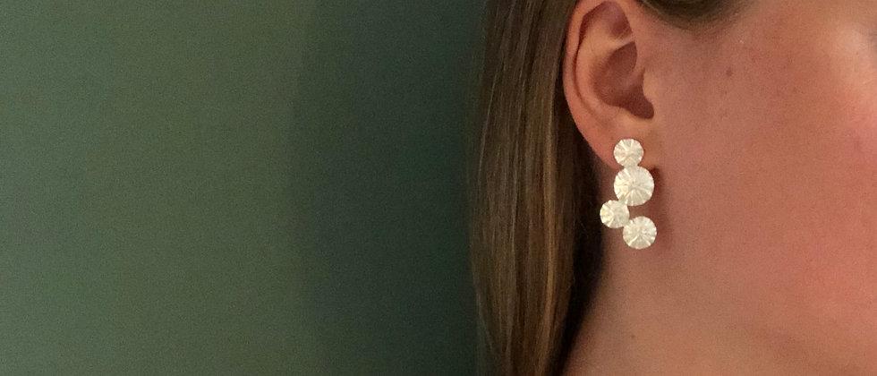 Water Lily Silver Earrings