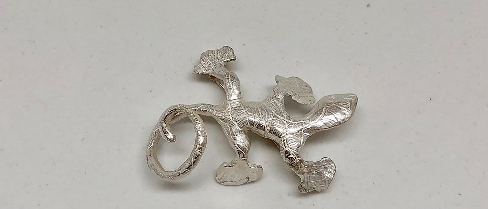 Salamanders Silver Brooch