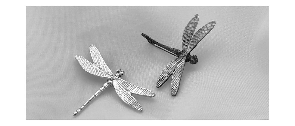 Dragonfly Silver Brooch