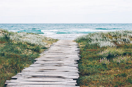path to beach, ocean, relaxation, guided visualization