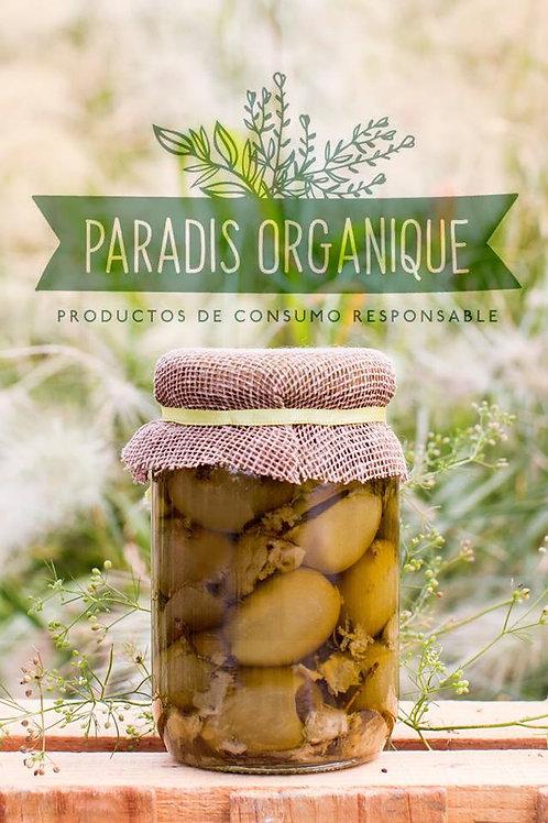 Aceitunas en oliva con naranja