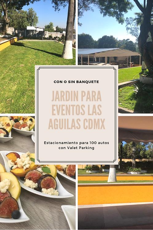 Jardín para eventos en Las Águilas CDMX