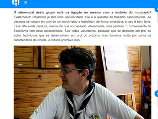 Diretor dos Escoteiros fala sobre atividades que grupo desempenha em Holambra