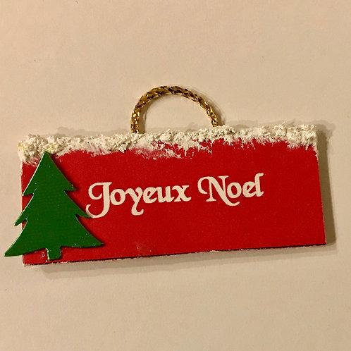Panneau Noël miniature 1/12 pour maison de poupée