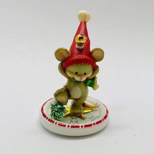 Souris de Noël miniature pour maison de poupée