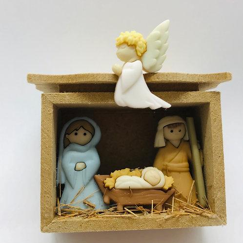 Crèche Noël miniature pour maison de poupée