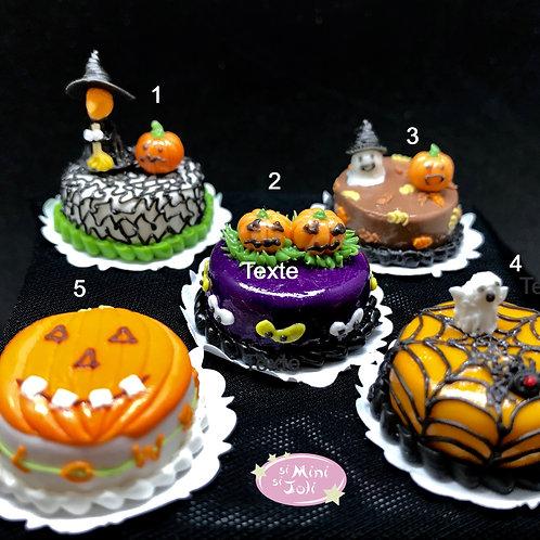 Délicieux gateaux Halloween miniature, patisserie maison de poupée 1/12