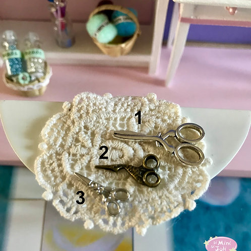 Paire de ciseaux miniature, maison de poupée 1:12, diorama, scènes de vie