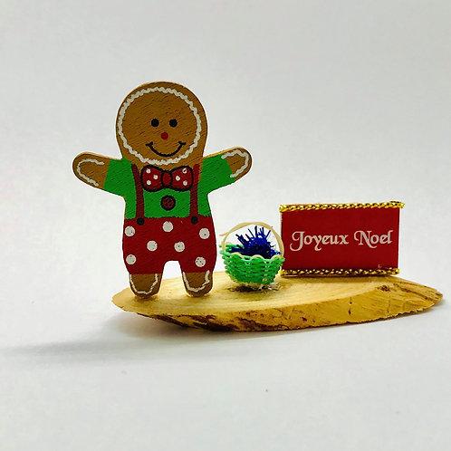 Pain d'épices miniature Noël pour maison de poupée