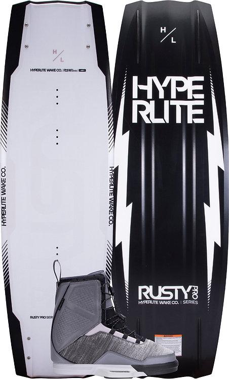 2022 Hyperlite Rusty Pro Wakeboard + Ultra Boots Package